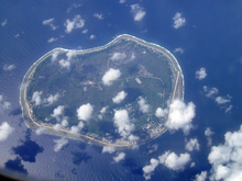 Aerial view of Nauru.