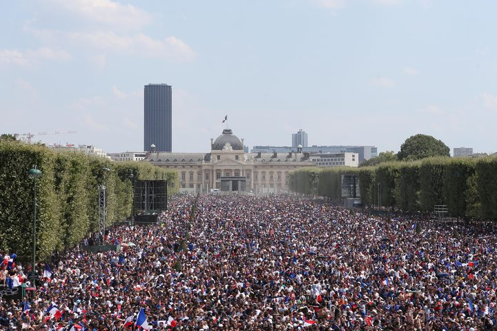 France celebrates World Cup win.