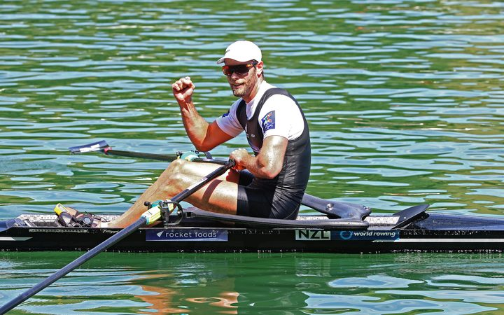 New Zealand rower Robbie Manson.