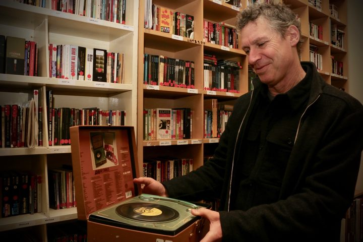 Nick Bollinger with a box-set