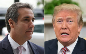 Michael Cohen and US President Donald Trump.