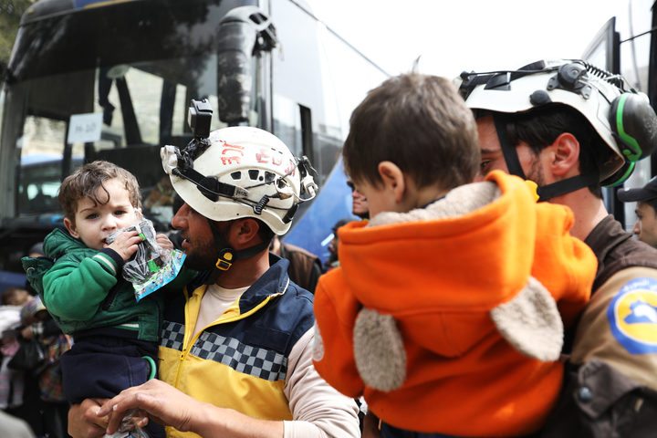 Syria blasts evacuation of White Helmets as 'criminal'