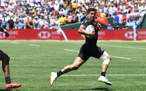 Regan Ware heads towards the try line.