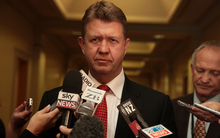 Labour Party leader David Cunliffe speaks to the media about the resignation of Maurice Williamson.