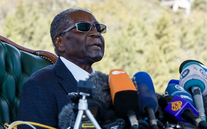 Zimbabwe's Mugabe emerges, rejects Mnangagwa hours before historic election