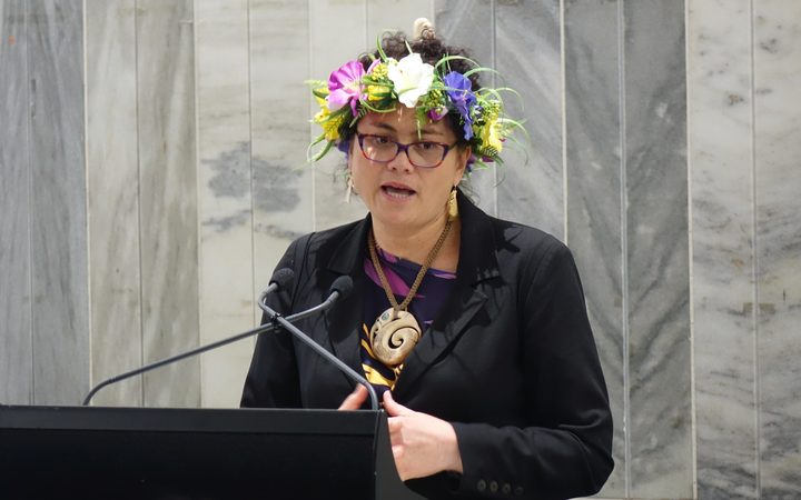 New Zealand Labour Party MP Louisa Wall at the launch of Maire Leadbeater's book 'See No Evil: New Zealand's betrayal of the people of West Papua'