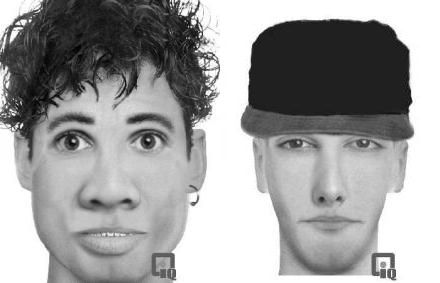 Police have released identikit pictures of two men.