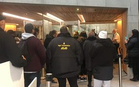 A group of Tauranga iwi were refused entry at Parliament.