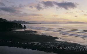 The North Taranaki coastline.