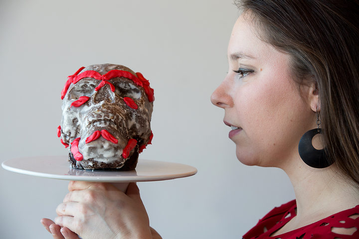 "Skull and cakebones thesis representation for ""bake your thesis"" from Jade De La Paz."