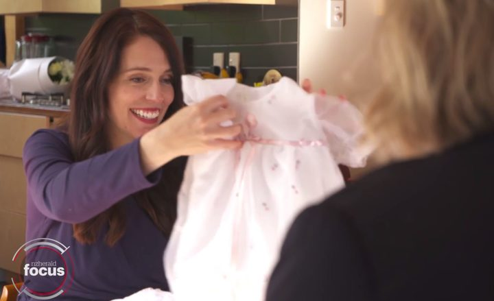 PM Jacinda Ardern getting gifts from Herald readers from political reporter Clare Trevett. Screenshot / Herald Focus