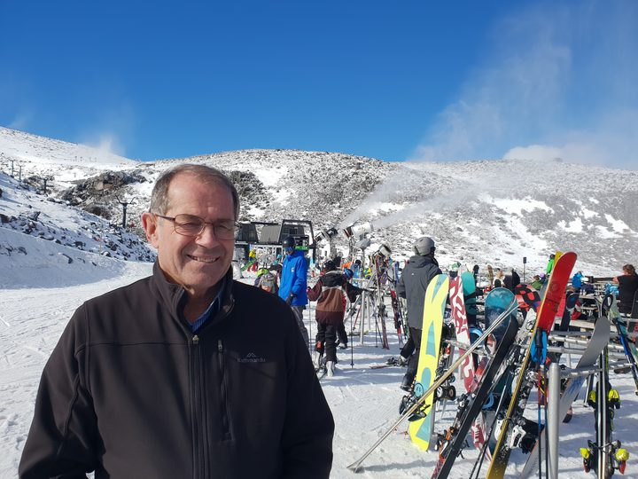 High on the slopes of Mt Ruapehu mayor Don Cameron says huge tourist numbers are putting considerable pressure on the district's water infrastructure.