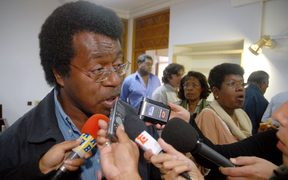 The New Caledonia pro-independence politician, Jean-Pierre Djaiwe.