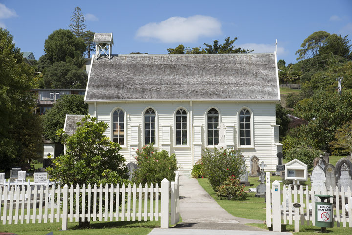 Christ Church in Russell, NZ's oldest active church.