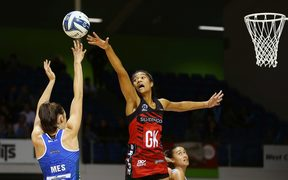 Tactix goal keeper Temalisi Fakahokotau is the ANZ Premiership's leading defender