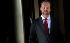 In this file photo taken on December 11, 2017 former Trump campaign official Rick Gates leaves Federal Court in Washington, DC.