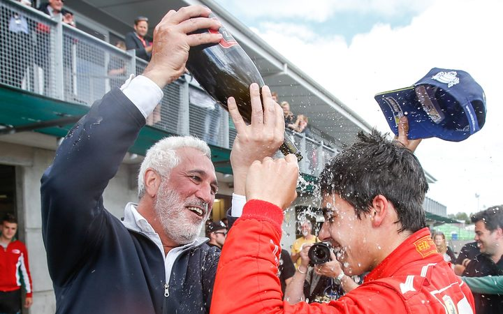 Lawrence Stroll and his son and F1 driver Lance Stroll