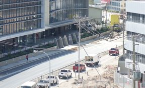 Road construction continues apace in PNG's capital ahead of November's APEC summit.