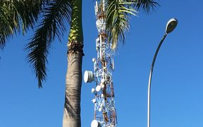 A telecommunications tower in Lautoka, Fiji