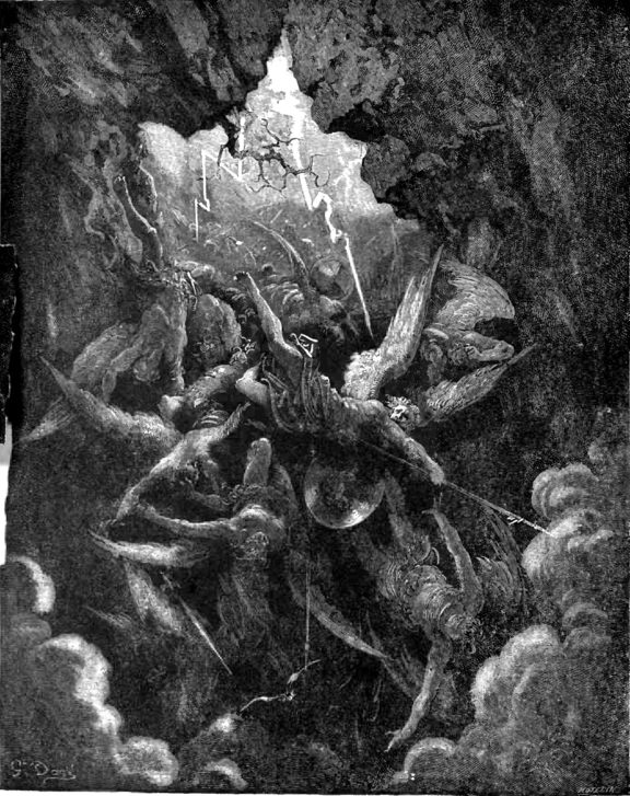 "Gustave Doré illustration for Milton's ""Paradise Lost"""