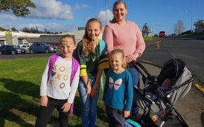 Madeline Mostert and her three daughters.
