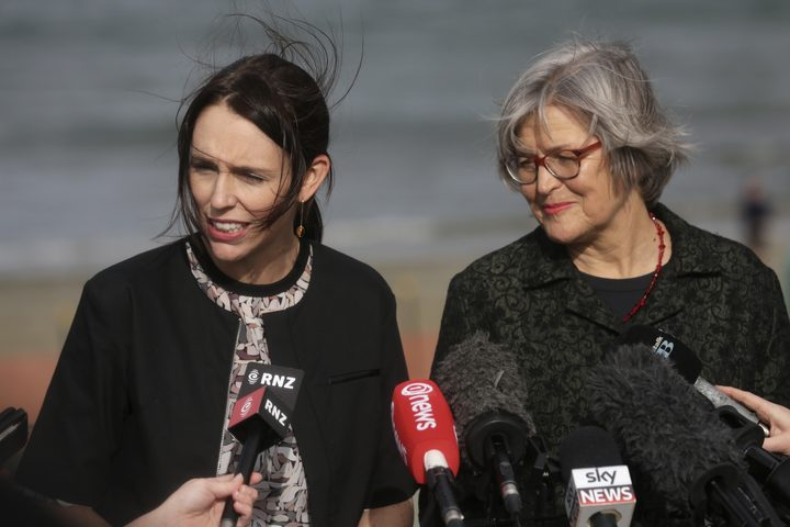 Prime Minister Jacinda Ardern with Assoiate Minister for the Environment Eugenie Sage.