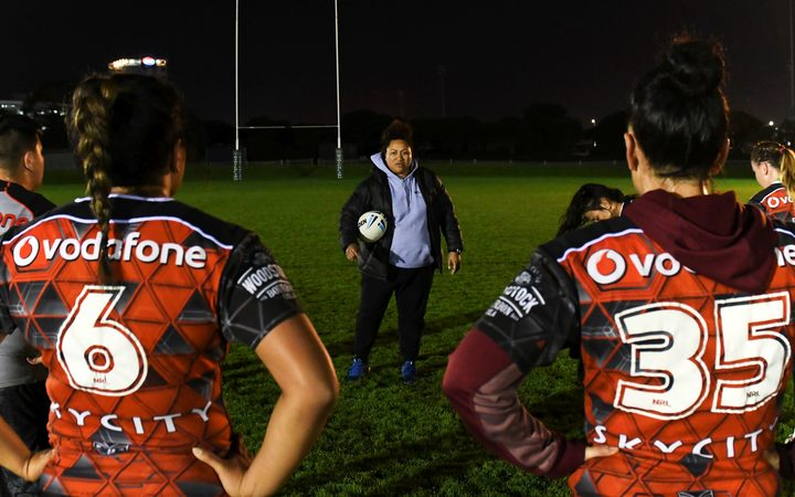 Warriors' coach Luisa Avaiki at training session
