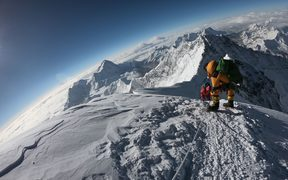 In this file photo mountaineers make their way to the summit of Mount Everest, as they ascend on the south face from Nepal.