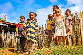 Children of Yalanda village in Nipa-Kutubu district of Southern Highlands province in PNG.