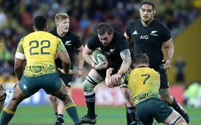 Liam Squire on the charge during last year's Bledisloe Cup third test