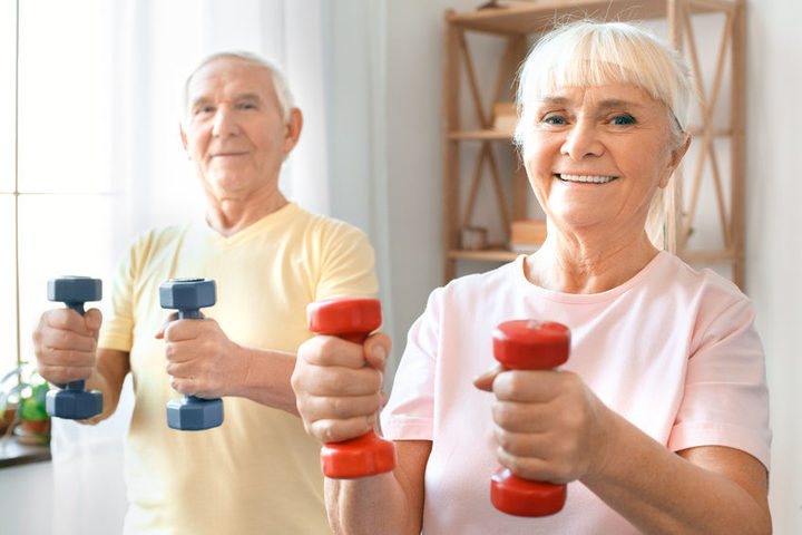 'Use it or lose it.' Even modest amounts of weight-bearing exercise will slow down muscle wasting as we age.