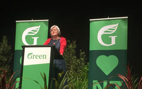 Eugenie Sage speaking at the Green party conference