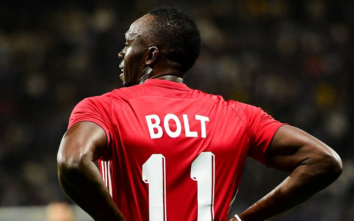 Usain Bolt continues to chase his footballing dream.