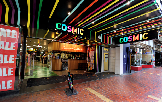 Cosmic shop in Cuba Mall, Wellington.