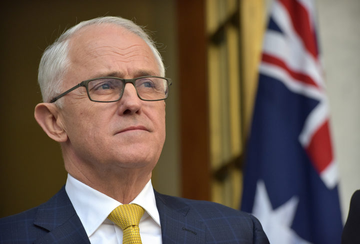 Australia Prime Minister Malcolm Turnbull attends a press conference in Parliament House in Canberra on August 22, 2018.