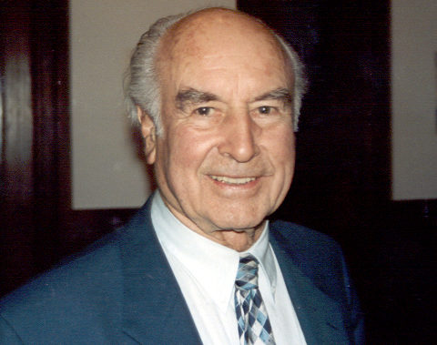Albert Hofmann in 1993, at the 50th anniversary of the discovery of LSD in Lugano, Switzerland.