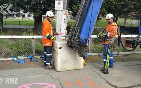 Dunedin power pole on lean needed replacing in 2015