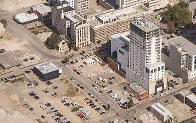 An aerial view of Christchurch's CBD showing demolished sites.