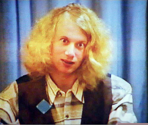 22 May 1996, Martin Bryant, the 28-year-old gunnman who massacred 35 people and injured 18 others during a shooting rampage in the historic settlement of Port Arthur on 28 April, during his first court hearing in Hobart 22 May.