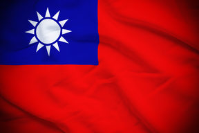 Wavy and rippled national flag of Taiwan background.