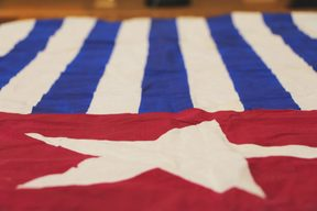 The Morning Star flag a symbol of the West Papuan independence movement.