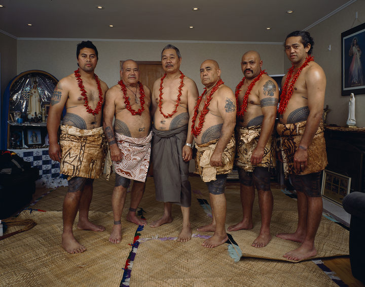 Avondale Road, Avondale, Auckland in 2005. From left: Lui Betham Pasina Betham Su'a Tavui Pasina Iosefo Ah Ken Fune Betham unidentified and Gus Bet.