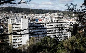 A view of the building from Victoria University's Kelburn campus.