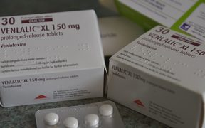 Venlafaxine, a medication for the reduction of the symptoms of anxiety and depression