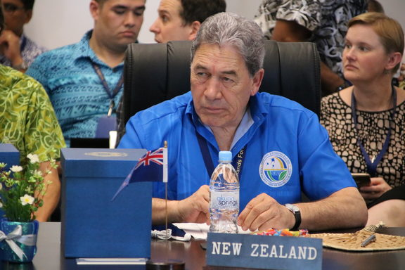 New Zealand's Foreign Minister Winston Peters attends the Pacific Islands Forum on 4 September, 2018.