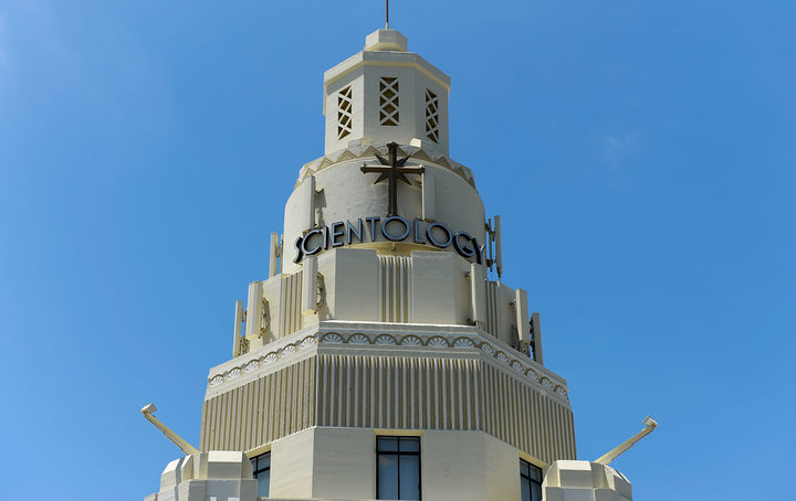 LOS ANGELES, CA - JUNE 05: General view of the Church of Scientology community center in the neighborhood of South Los Angeles on June 5, 2013 in Los Angeles, California.   Kevork Djansezian/Getty Images/AFP