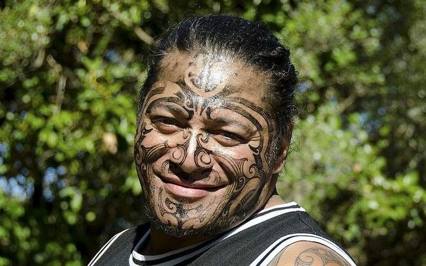 Maori man with tattoo