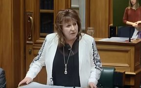 Clare Curran answering questions in parliament, 5 September 2018