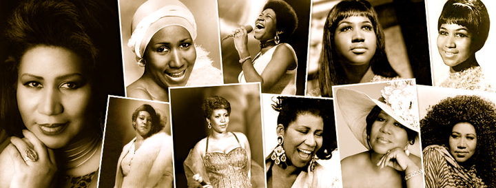 Aretha Franklin collage