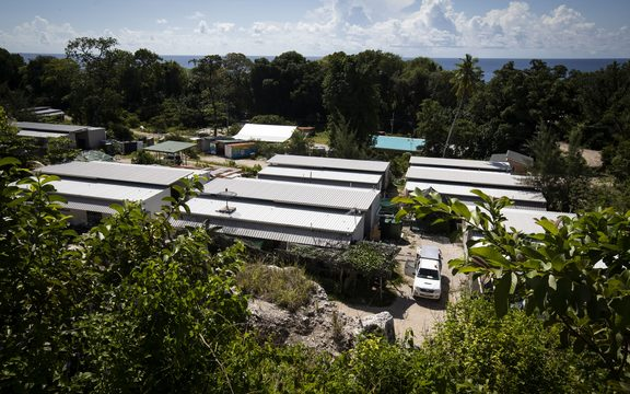 The Nibok refugee settlement, Nauru.